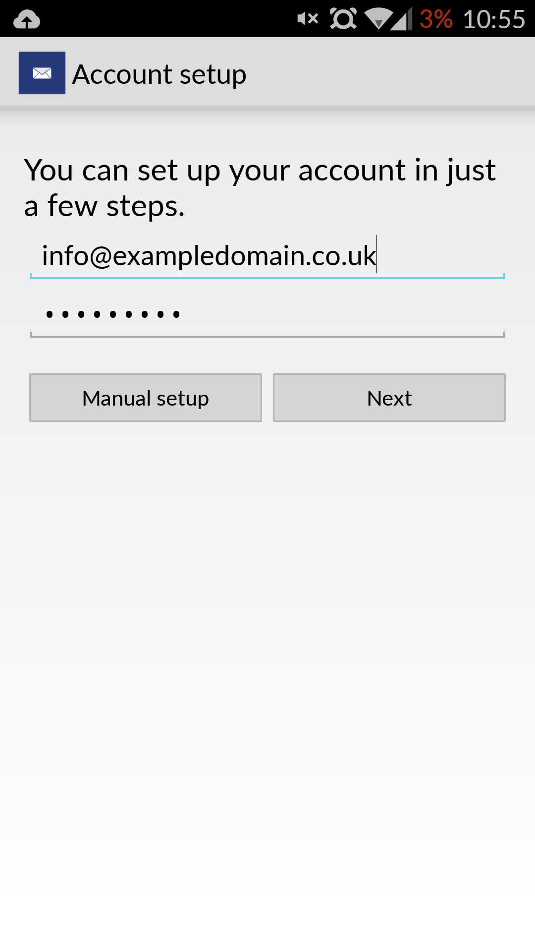 E Mail Settings For Android Phones Unlimited Web Hosting
