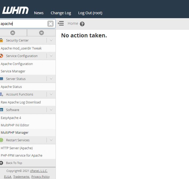 WHM Search Interface