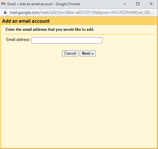 Gmail check mail from another account