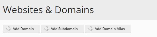Add a domain in Plesk